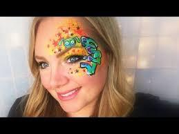 Graffiti <b>Eye Face</b> Painting and <b>Makeup</b> - YouTube | Monster <b>face</b> ...