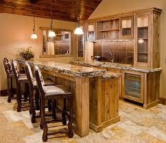 furnitureterrific basement home bar decoration ideas with cool metal swivel bar stools and granite arched table top wine cellar furniture