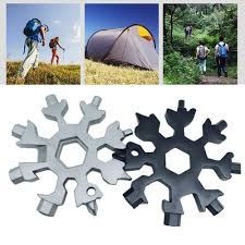 <b>Multi-function Snowflake</b> Tool Card <b>Portable</b> Outdoor Tool With ...