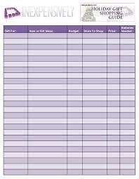 black friday shopping list printable inexpensively printable holiday shopping list
