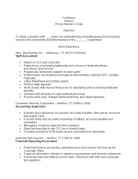 accounting resume templates examples ms word staff accountant resume template