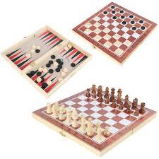 <b>Настольная игра</b> 3 в 1, Шахматы/Шашки/Нарды, <b>Veld Co</b> с ...