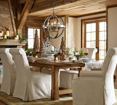 barn kitchen table rustic dining table design with pottery barn extending kitchen table dining chair slipcovers pottery barn