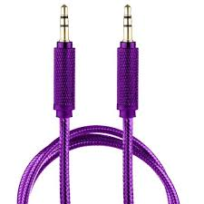 Lilware Braided Nylon Transparent PVC Jacket <b>1M Aux Audio Cable</b> ...