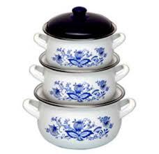 Набор посуды Маруся 333 6 предметов (2.0л,<b>3.0</b>л,4.0л) эмаль с ...