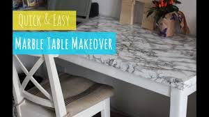 DIY <b>Marble</b> table, quick and easy table makeover - YouTube