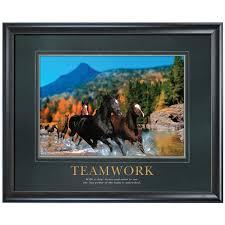 teamwork motivational clipart clipart kid and center teamwork horses motivational poster by successories