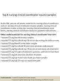topnursingclinicalcoordinatorresumesamples lva app thumbnail jpg cb