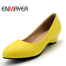 <b>ENMAYER</b> women pumps Round Toe Closed Toe <b>Spike Heels</b> ...