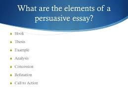 line persuasive essay tips and tricks for a great score    what are the elements of a persuasive essay   hook  thesis  example 