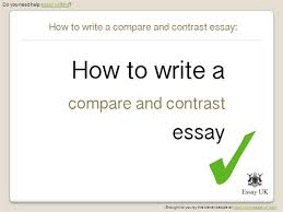 compare and contrast essay topics  authorstreamhow to write a compare and contrast essay   essay writing