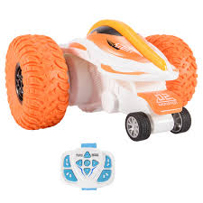 T02B 2.4G <b>Remote Control</b> Vehicle <b>Toy</b> Bright Yellow <b>RC Stunt</b> Car ...