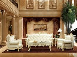 luxury antique france style white and red genuine leather sofa set for living room furniture oak solid wood sofa made in china antique style living room furniture