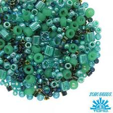 <b>Бисер TOHO</b> Beads Mix, цвет <b>3203</b> Take-Seafoam/<b>Green</b> 10 грамм ...