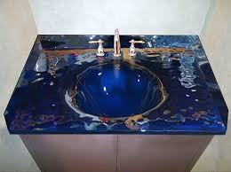 ideas custom bathroom vanity tops inspiring:  stylish ideas custom bathroom vanity tops pleasing sensational glass bathroom vanity top tempered tops sink with