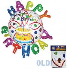 """<b>ШАР ФОЛЬГИРОВАННЫЙ</b>, """"<b>HAPPY</b> BIRTHDAY!"""", 88*93см ..."""