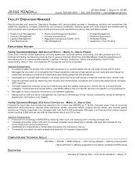 example facility operations manager resume   free samplesample resume