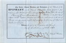 church of the epiphany philadelphia philadelphia studies promissory note of church of the epiphany philadelphia 1863