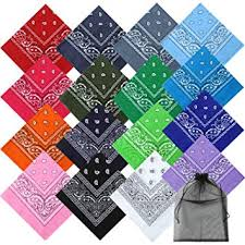 Keriber <b>16 Colors Cotton</b> Bandanas Paisley Headbands Cowboy ...