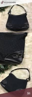 Villager black & <b>silver</b> shoulder bag purse Villager brand. Black with ...