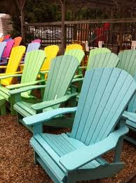 A Rainbow Of Recycled Plastic Adirondack Chairs  D