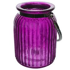 <b>Фонарь hurricane</b> 15см фиолетовый Hackbijl glass 44818