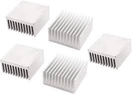 uxcell 5 Pcs Silver Tone <b>Aluminium</b> Radiator Heatsink <b>Heat</b> Sink ...