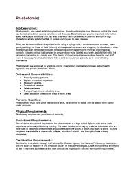 sample phlebotomy resume phlebotomist cover letter fa a c eb ce gallery of phlebotomy resume sample
