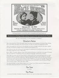 ann arbor civic theatre program the miracle worker  ann arbor civic theatre program the miracle worker 22 1995