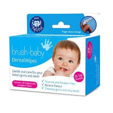 Салфетки с ксилитом <b>Brush</b>-<b>Baby</b> DentalWipes для детей от 0 до ...