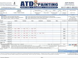 painting estimate form info exterior paint estimate jottincury