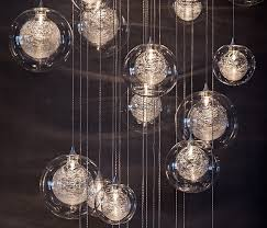 globo handblown glass blown glass pendant lighting