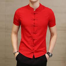 <b>2019 Summer</b> New <b>Men</b> Shirt Fashion Chinese style Linen Slim Fit ...