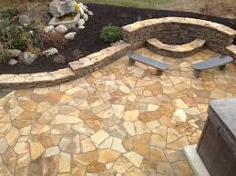 stone patio installation: jpg middot flagstone patio fire pit and wall