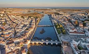 Tavira-tourist-town-filmed-from-the-sky.-Portugal