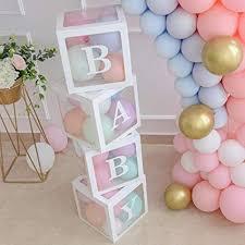 Baby Shower Boxes Party Decorations – 4 pcs ... - Amazon.com