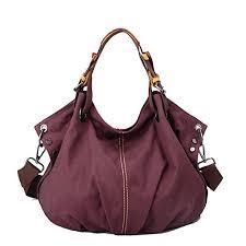 Purple Womens <b>Canvas Tote Bag</b>, WITERY Casual <b>Vintage Canvas</b> ...