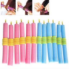 <b>12PCS Soft Hair</b> Curler Roller Curl Hair Bendy Rollers Foam Bendy ...