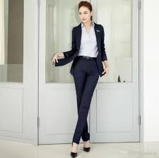 2017 women suit professional ladies twinset coat pants suit pure women suit professional ladies twinset coat pants suit pure color formal occasion customized job interview