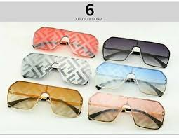 FF <b>Square</b> Oversize Sunglasses for <b>Women</b> F <b>Letter</b> Glasses Trendy ...
