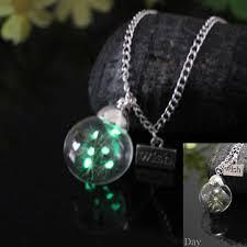 JEPHNE светится в темноте ожерелье с настоящим ...