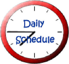 Image result for schedule