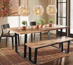 Rectangular Dining Room Lighting Furniture Artistic Dining Room Decorating Design Ideas With