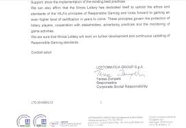 Submission For: World Lottery Association RG Level 3 Certification ...