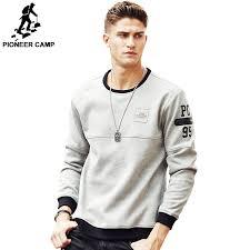 Pioneer Camp thick warm fleece hoodies men <b>hot sale</b> brand ...