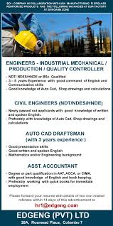 civil engineers ndt ndes hnde edgeng pvt latest best job site in sri lanka lk