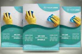 cleaning services flyer v028 flyer templates on creative market