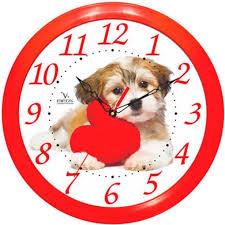 <b>Часы настенные Вега П</b> 1-1/7-217 «Собака и красное сердце ...