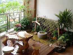 make a mini waterfall pong with the help of wood and bamboo furniture balcony design furniture