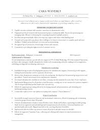 executive level administrative assistant resume example eager world it